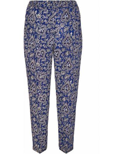 Укороченные брюки прямые со стрелками в цветочный принт Tara Jarmon