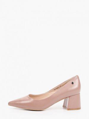 Кожаные розовые туфли закрытые Tuffoni