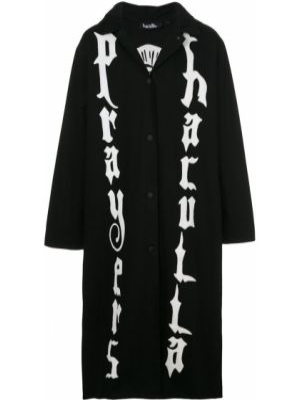 Czarna kurtka z haftem bawełniana Haculla