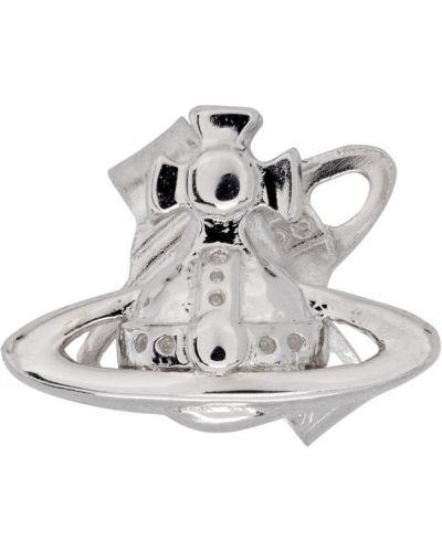 Серебряные серебряные серьги Vivienne Westwood