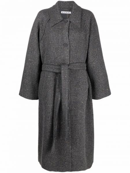Серое нейлоновое пальто Acne Studios