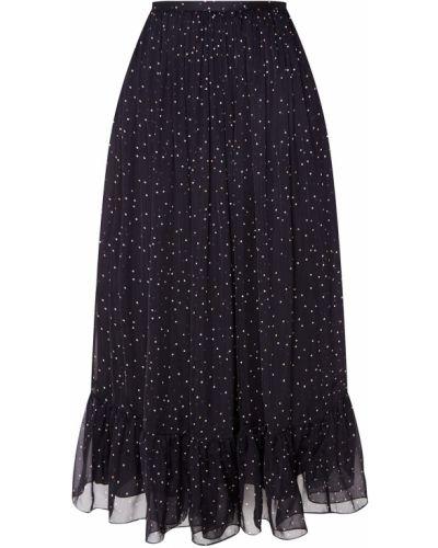 С завышенной талией черная юбка миди со складками Alena Akhmadullina