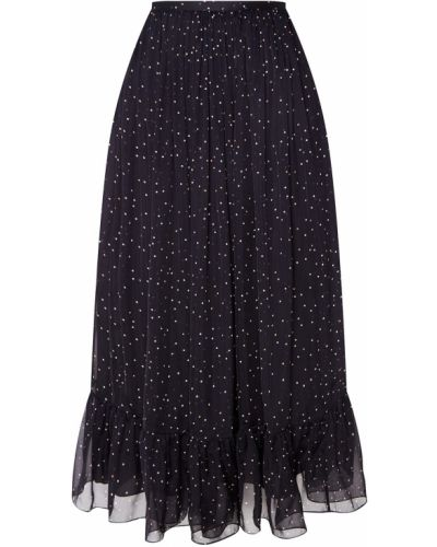 Шелковая юбка миди - черная Alena Akhmadullina