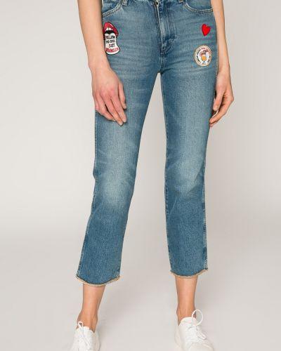 Прямые джинсы с вышивкой синие Wrangler