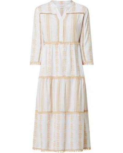 Sukienka midi bawełniana - beżowa Rich & Royal