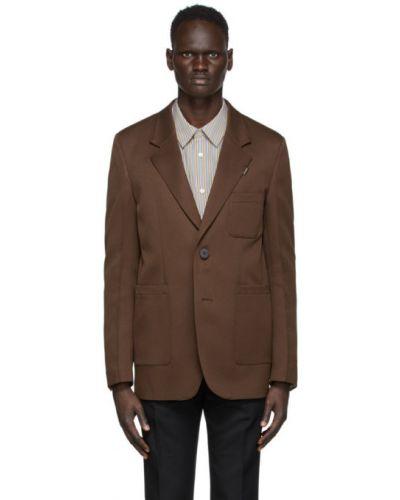 Черный пиджак с карманами с заплатками с воротником Wooyoungmi