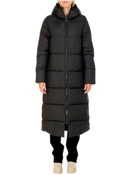 Czarny płaszcz Ecoalf