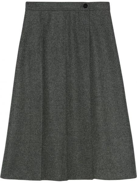 Wełniany pofałdowany spódnica plisowana Gucci