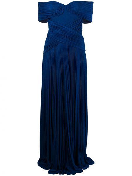 Платье мини плиссированное на молнии Elisabetta Franchi