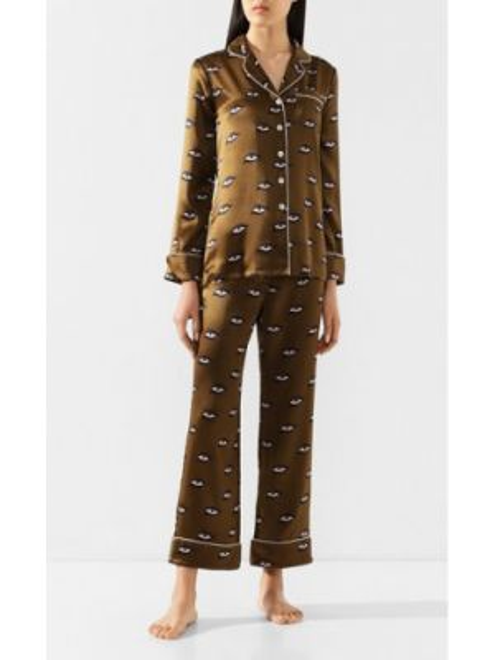 Пижама с брюками атласная шелковая Olivia Von Halle