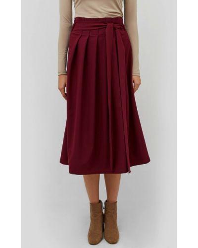 Плиссированная юбка красный бордовый Cardo