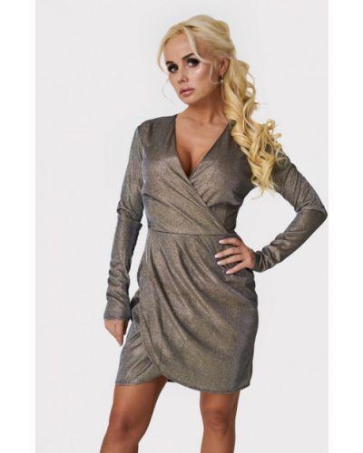Вечернее платье осеннее серебряный Luxlook