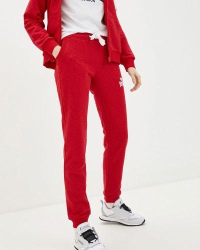 Красные спортивные брюки Lonsdale