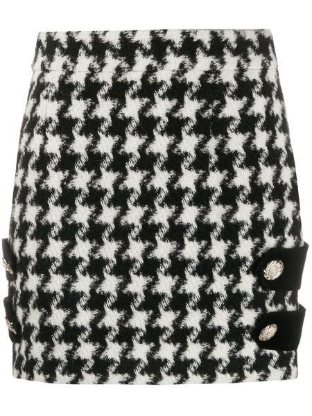 Черная с завышенной талией юбка на молнии из альпаки Amen.