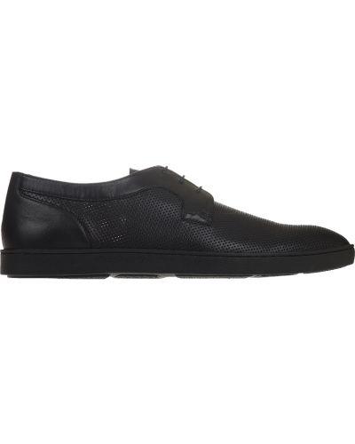 Туфли с перфорацией черные Pakerson