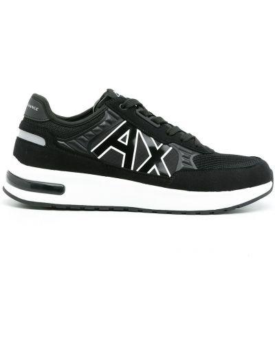 Черные кроссовки сетчатые Armani Exchange