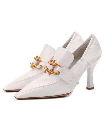 Кожаные белые туфли с подкладкой Bottega Veneta