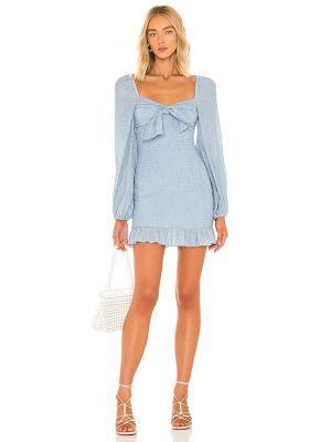 Niebieska sukienka mini elegancka Majorelle