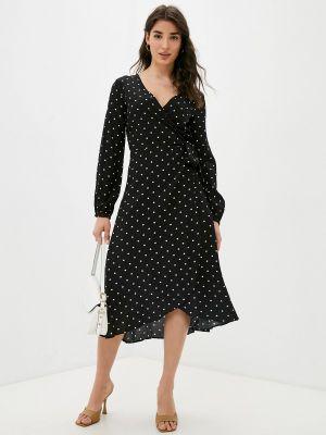 Черное платье с запахом Guess Jeans