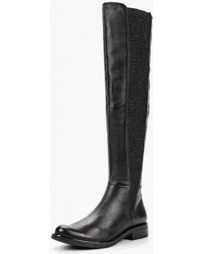 Черные ботфорты кожаные Caprice