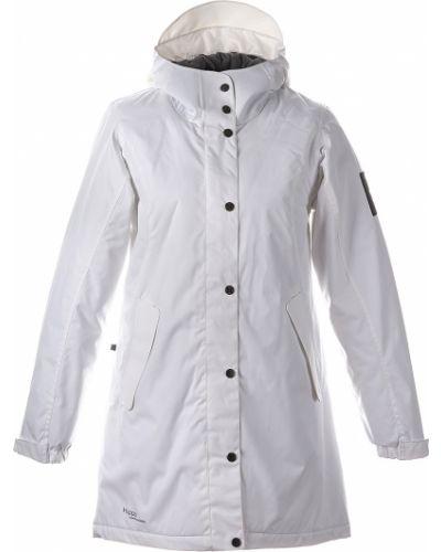 Флисовое пальто - белое Huppa