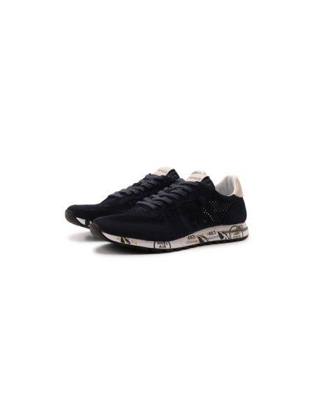 Синие текстильные кроссовки с подкладкой Premiata