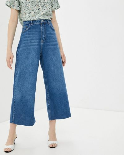 Расклешенные синие широкие джинсы Defacto