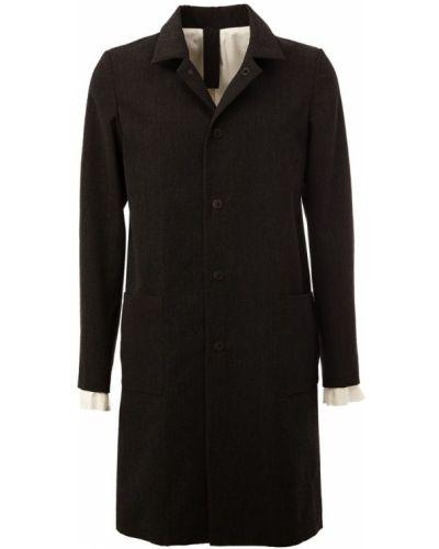 Черное шерстяное пальто L'eclaireur
