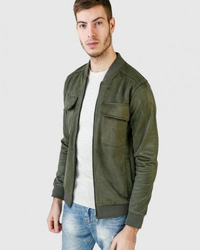 Кожаная куртка - зеленая Figo
