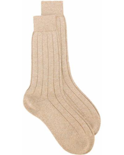Ватные бежевые хлопковые носки Fashion Clinic Timeless