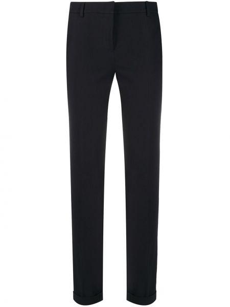 Синие прямые укороченные брюки с карманами Incotex