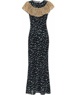 Вечернее платье миди из штапеля Rixo