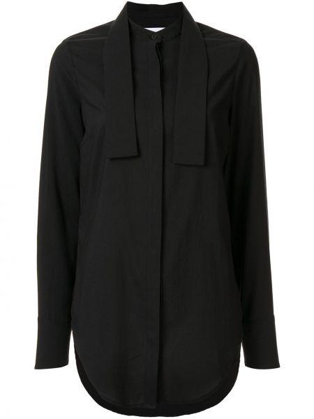 Длинная рубашка - черная Strateas Carlucci