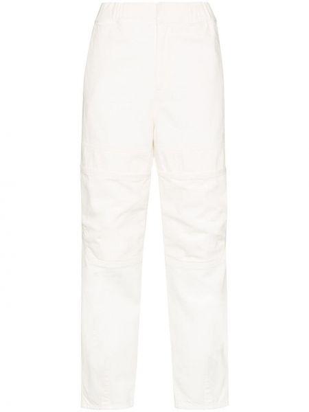 Białe jeansy bawełniane na plażę Ambush