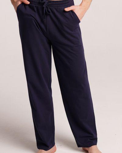 Трикотажные классические брюки - синие Naviale