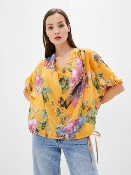 С рукавами желтая блузка Sugarlife