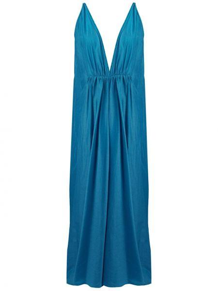 Расклешенное платье макси с V-образным вырезом без рукавов на молнии Kalita