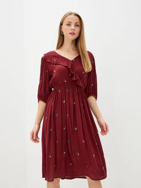 Прямое красное платье Baon