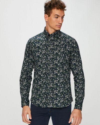Рубашка с длинным рукавом тонкая темно-синий Casual Friday