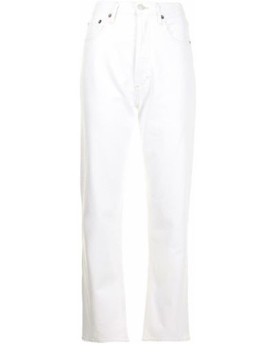 С завышенной талией прямые белые джинсы Agolde