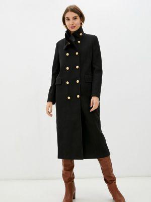 Черное демисезонное пальто Rinascimento