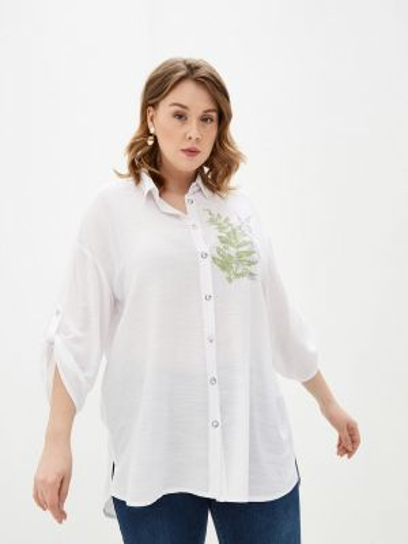 Рубашка с длинным рукавом белая Intikoma