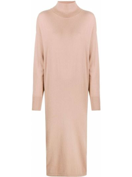 С рукавами кашемировое платье с рукавами в рубчик с разрезом N.peal