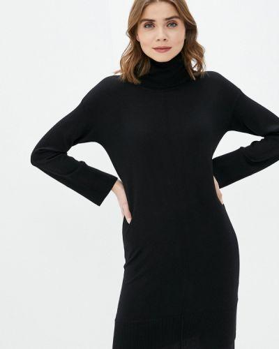 Вязаное трикотажное черное платье Alpha Studio