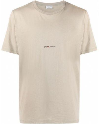 Beżowa t-shirt Saint Laurent