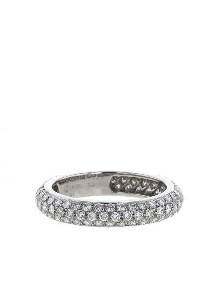 Кольцо с бриллиантом - серебряное Cartier