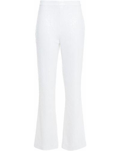 Белые брюки с пайетками с подкладкой Badgley Mischka