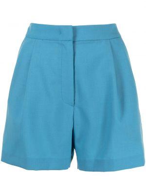 Niebieskie szorty wełniane Pushbutton