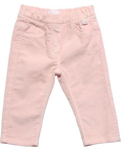 Różowy aksamit spodnie z kieszeniami Il Gufo