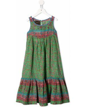 Зеленое платье с рукавами на пуговицах Go To Hollywood